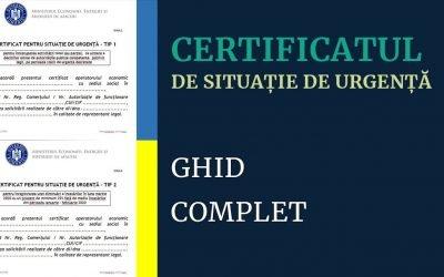 Tot ce trebuie să știi despre certificatul de situație de urgență